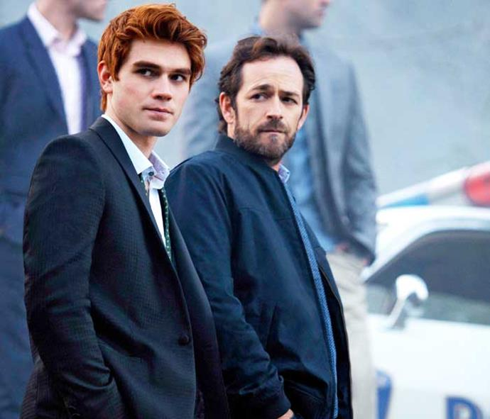 In *Riverdale* with co-star Luke Perry.