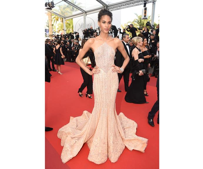 Cindy Bruna glows in Georges Hobeika.