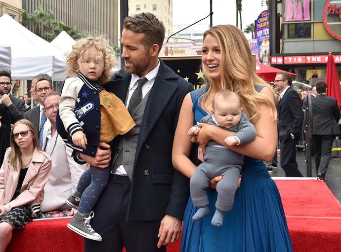 **James** Maybe she was inspired by her own name, but Blake Lively and husband Ryan Reynolds named their little girl James (on the left) - continuing their family's trend of cool, gender-neutral names.