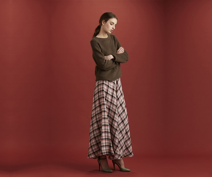 Ingrid Starnes warm skirt.