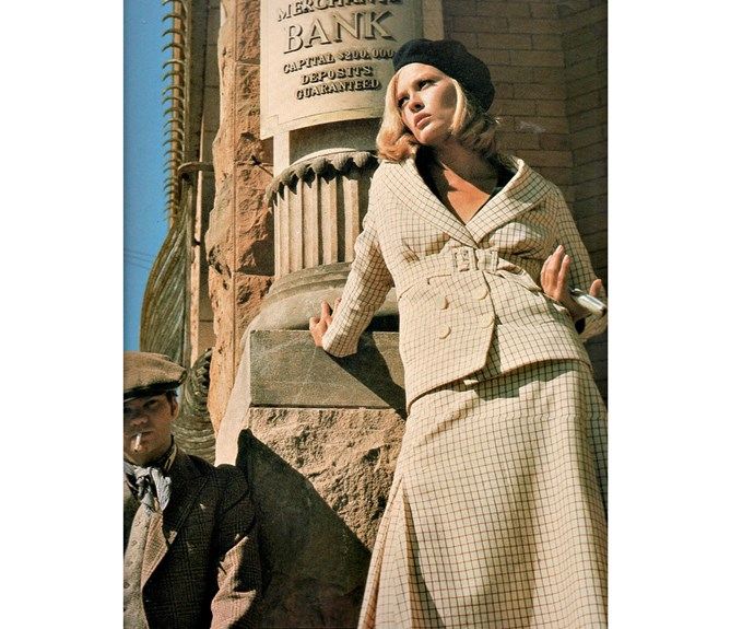 Faye Dunaway in *Bonnie and Clyde* dresses devilishly well as one of the most famous criminals in American History.