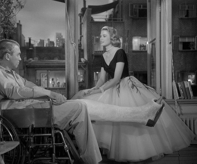 Grace Kelly's Lisa Fremont in *Rear Window* is a big supporter of Dior's voluminous 'new look'.