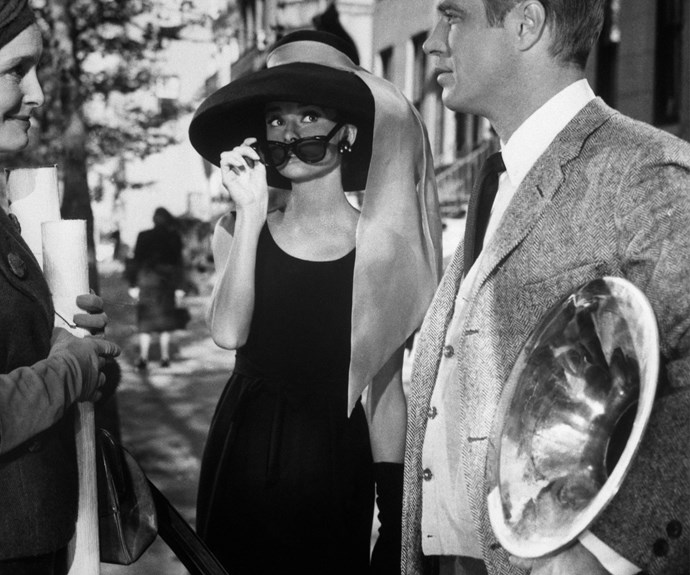 You can't find a more iconic, stylish character as Audrey Hepburn's Holly Golightly in *Breakfast at Tiffany's*.