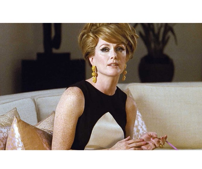 Julianne Moore's Charley in *A Single Man* dresses like a mid-century mod masterpiece - we'd expect nothing less from a film by fashion designer Tom Ford.