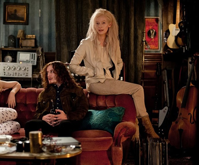 Tilda Swinton's Eve in *Only Lovers Left Alive* has been putting outfits together for centuries and masters this rock chic look.