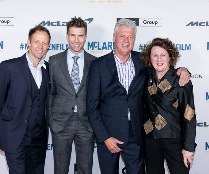 Fraser Brown, Matthew Metcalfe, Roger Donaldson, Jan McLaren