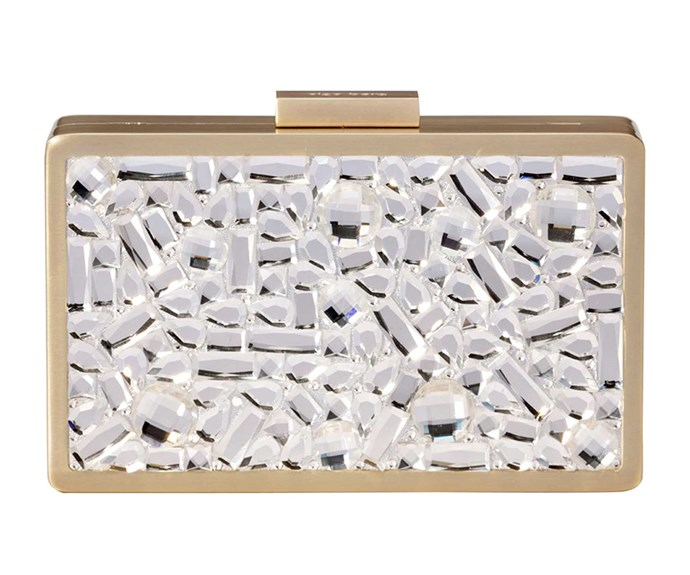 Olga clutch, $229, from Smith & Caughey's.