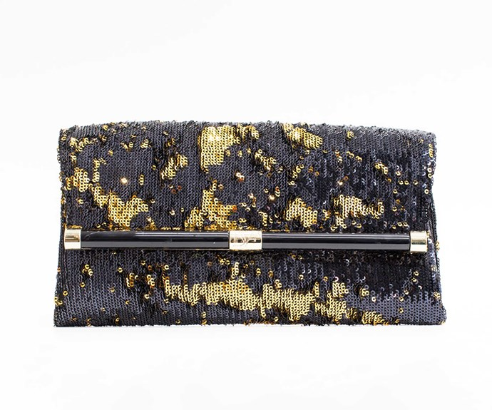 Diane von Fürstenberg clutch, $395, from Runway Shoes.