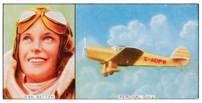 Jean Batten flew the Percival Gull monoplane from England to Australia in five days, 21 hours.
