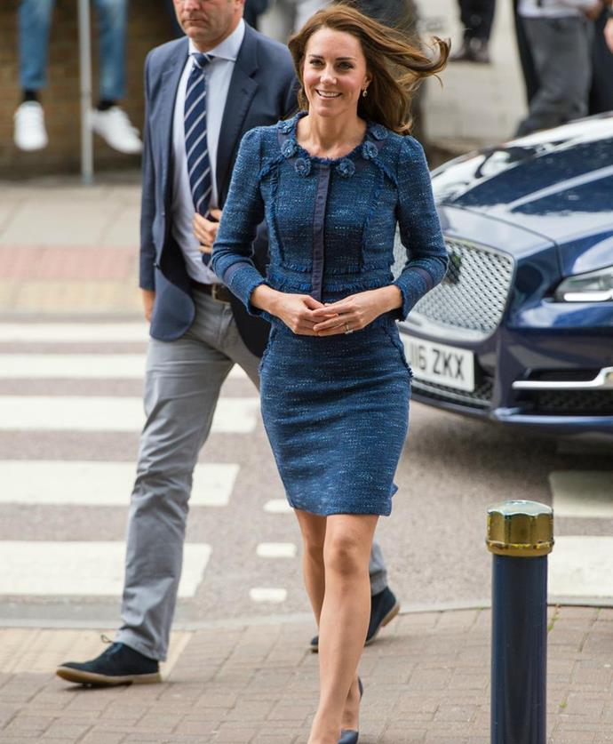 The Duchess made the surprise visit to the hospital in the early afternoon. Photo: Getty Images