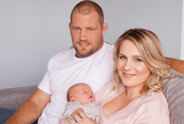 "**Owen Franks** and his wife **Emma** welcomed their son Thomas in 2015. The couple first met in a Christchurch pub in 2010, with Owen revealing he knew right away he wanted to marry the blonde beauty. ""When you know, you know,"" he told the *Australian Women's Weekly*. ""Our relationship moved quite fast from the start and it just felt right."""