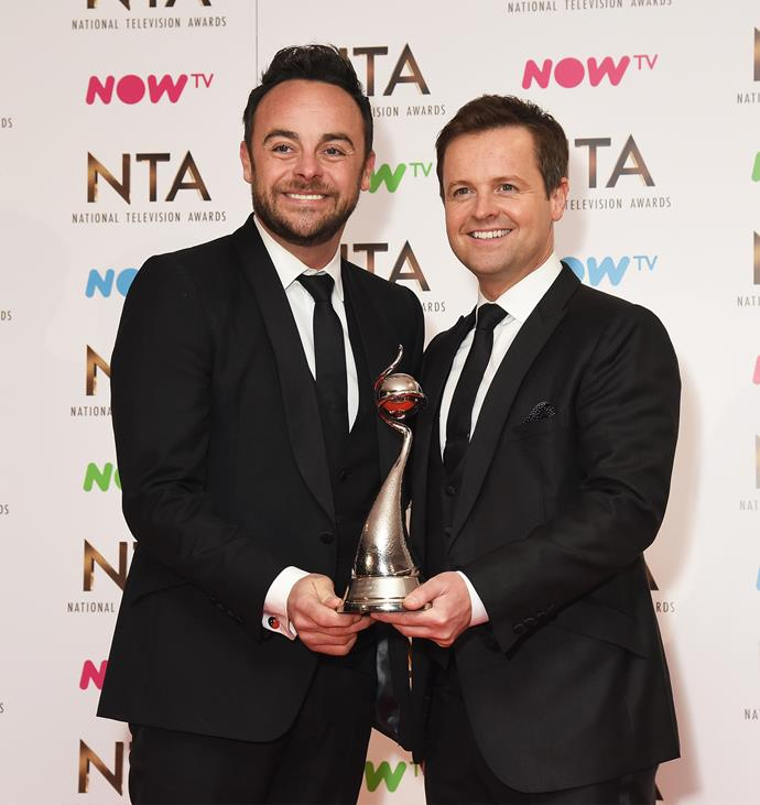 The veteran TV presenter is one half of the beloved 'Ant and Dec' duo alongside close pal Declan Donnelly.