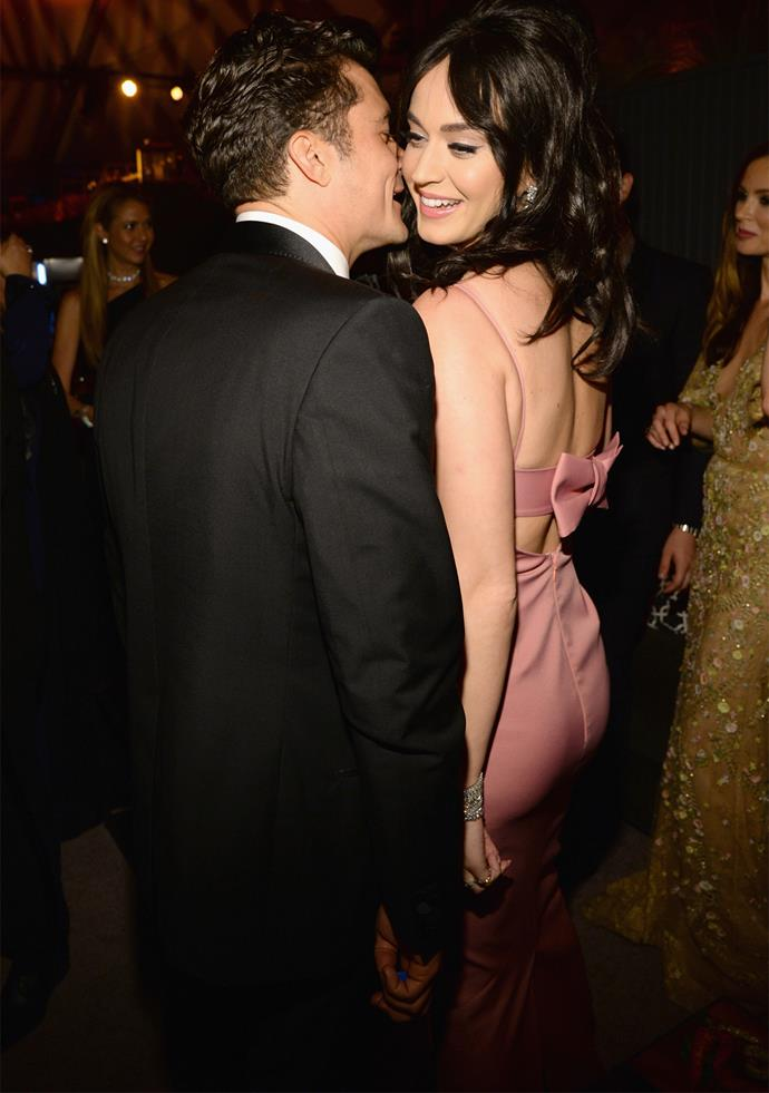 Katy and Orlando were first photographed together at a Golden Globes after party in 2016.