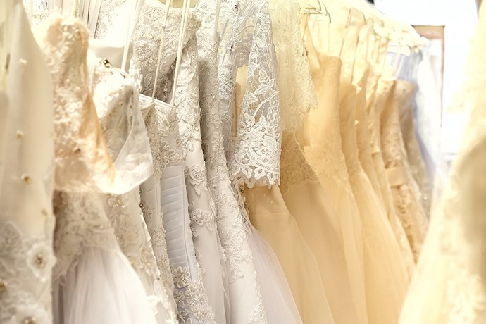 Finding the perfect wedding dress can be a process of elimination.