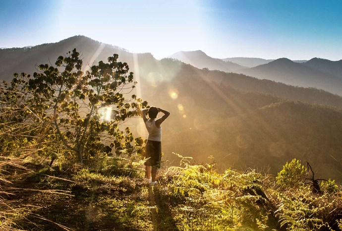 Watch the sun rise with a morning session of qi gong.
