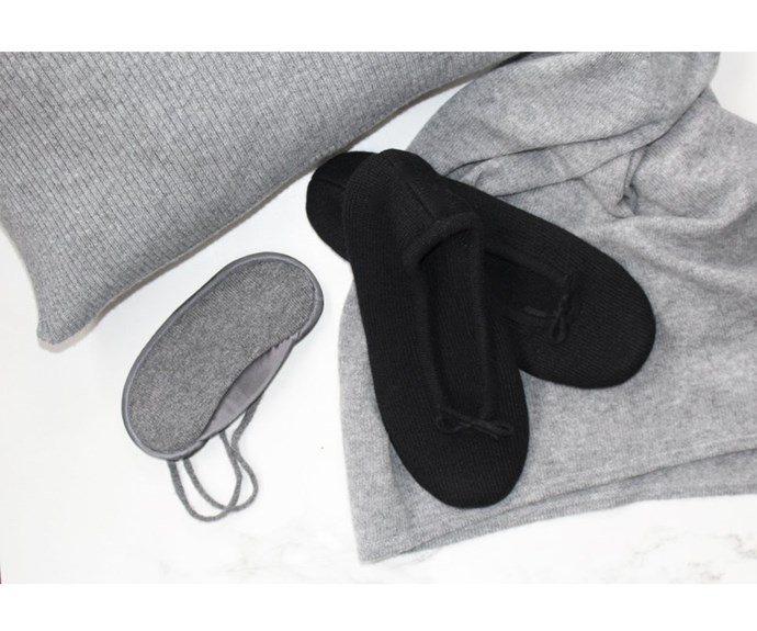 [Slippers, $159, by Elle + Roley.](https://www.elleandriley.com/collections/sleepwear/products/cashmere-slipper?variant=23711566599)