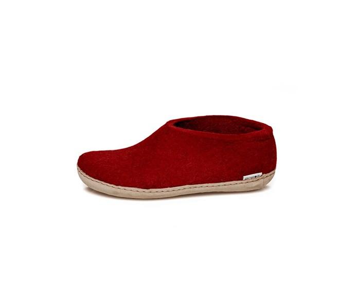 [Gleurps slippers, $180, from Design Denmark.](http://www.designdenmark.co.nz/products/glerup-slipper-with-heel-red/)
