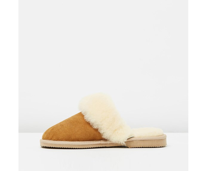 [Ugg Australia slippers, AU$68, from The Iconic.](http://www.theiconic.co.nz/scuff-ladies-396196.html)
