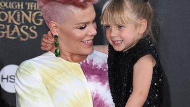 Pink gets stuck in elevator with daughter Willow