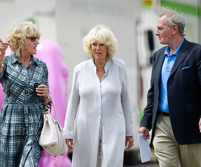 Camilla with siblings Annabel Elliot and Mark Shand in London in 2010.