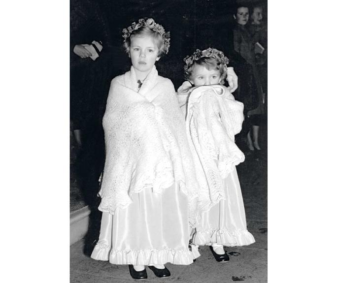 Five-year-old Camilla with her younger sister Annabel.