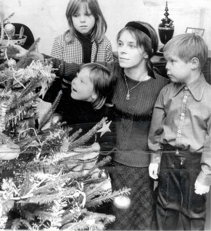 Lady Lucan with Camilla, Frances and George. Eight years after the murder, the children went to live with relatives.