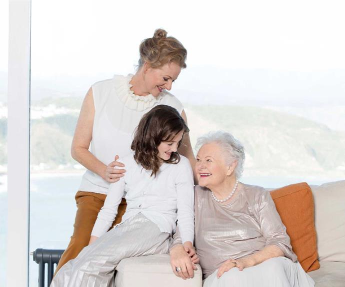 Three generations of Harcourt women.