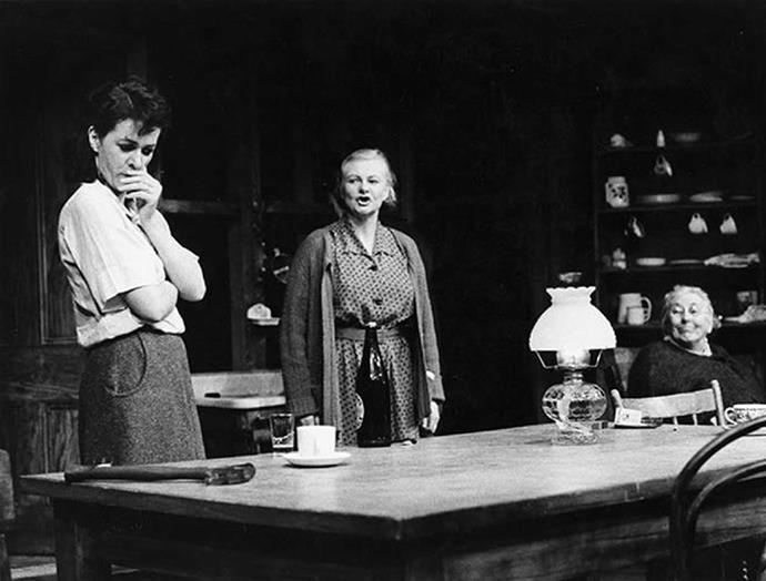 In 1984 Kate (right) starred in the play *Wednesday to Come*.