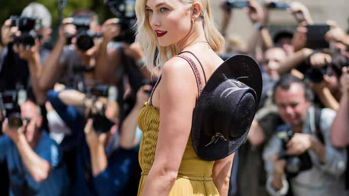Karlie Kloss attends to Dior show