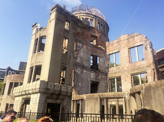 The Genbaku Dome, a shrine to the deaths at Hiroshima.