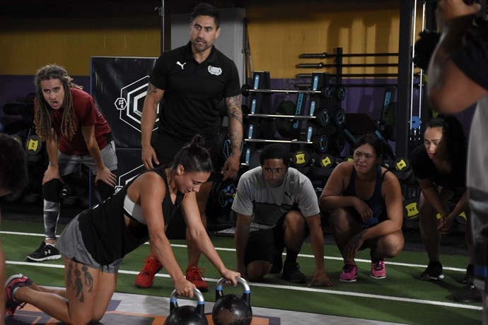 Elise taking on a challenge in *School of Training*, which was hosted by Joe Naufahu. (Image supplied)