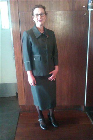 Dressed for success: Averil Wills in the outfit that Dress for Success gave her for her job interview... She got the job!