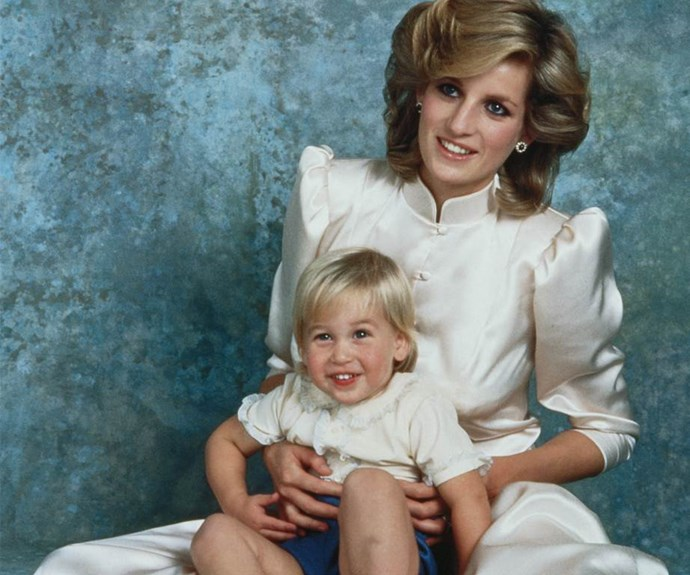 """Young William was the apple of his mother's eye. """"Hugs can do great amounts of good – especially for children,"""" Diana revealed."""