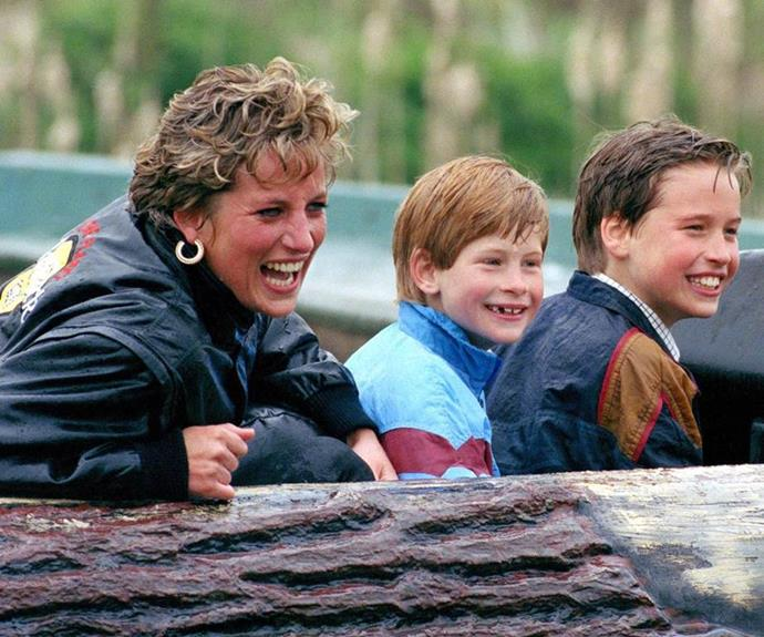 Diana, Harry and Will always had a blast together.