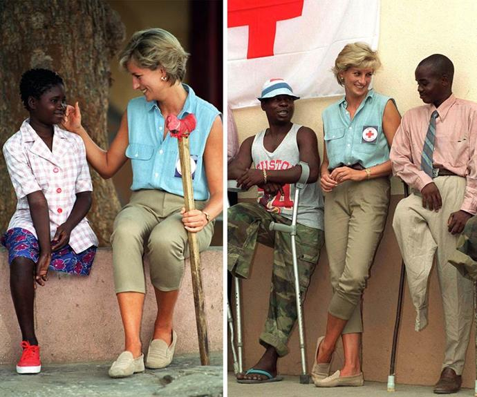 "Diana was renowned for her aid work. The Princess was a humanitarian and philanthropist. ""Nothing brings me more happiness than trying to help the most vulnerable people in society. It is a goal and an essential part of my life – a kind of destiny. Whoever is in distress can call on me. I will come running wherever they are."""
