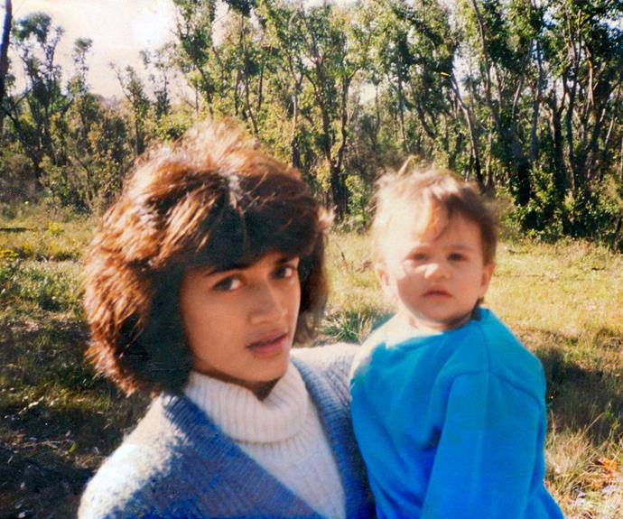 Turia, who was born in Tahiti, with her mum as a toddler.
