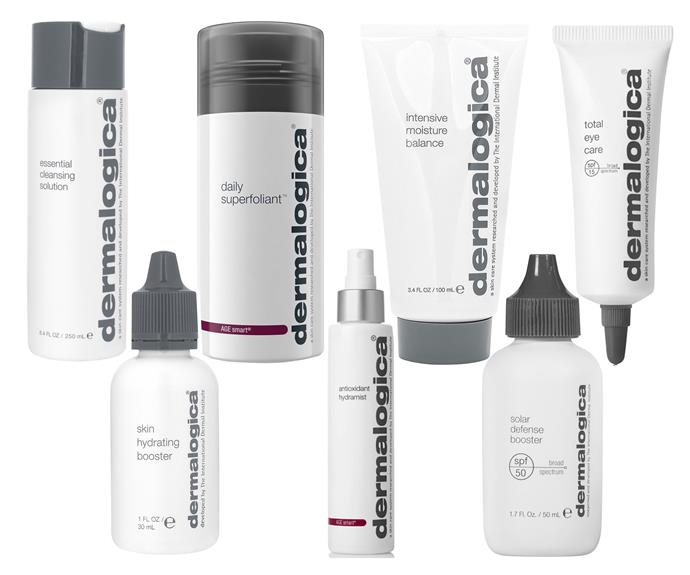 Dermalogica Essential Cleansing Solution, Dermalogica Antioxidant Hydramist, Dermalogica Intensive Moisture Balance, Dermalogica Skin Hydrating Booster, Dermalogica Daily Superfoliant, Dermalogica Total Eye Care, Dermalogica Solar Defense Booster