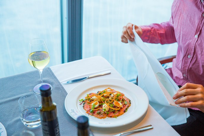 A wide variety of tantalising food options is available on board.