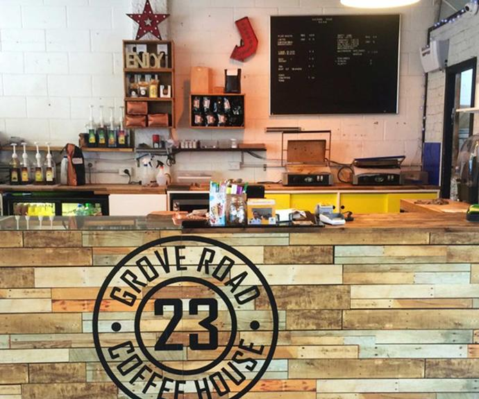 The 23 Grove Road Coffee House is great for a caffeine fix and pastries.