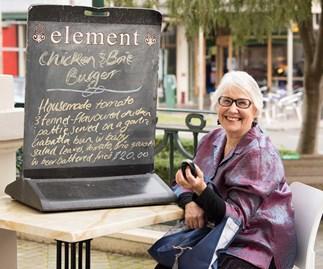 Chalkboards are easy pickings for Margi.