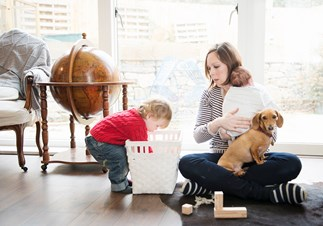 Being a mum is equal to 2.5 full time jobs