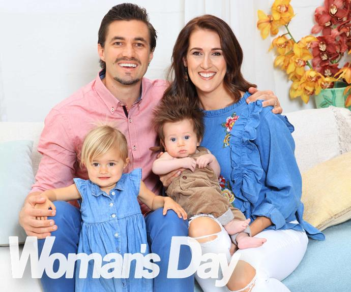 The Edge's Clinton Randell with his wife Jaime and their children, 6-month-old Ty and 2-year-old Cameron.
