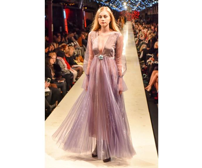 A Tanya Carlson gown at iD Dunedin Fashion Week 2017.