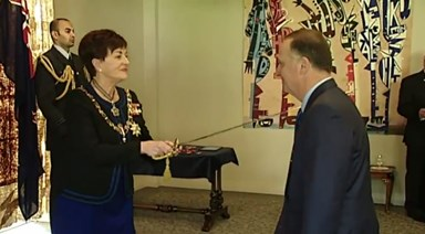 John Key receives knighthood