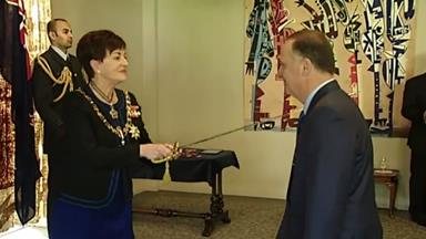 John Key receives knighthood