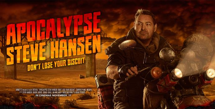 Steve Hansen in the poster for *Apocalypse*.