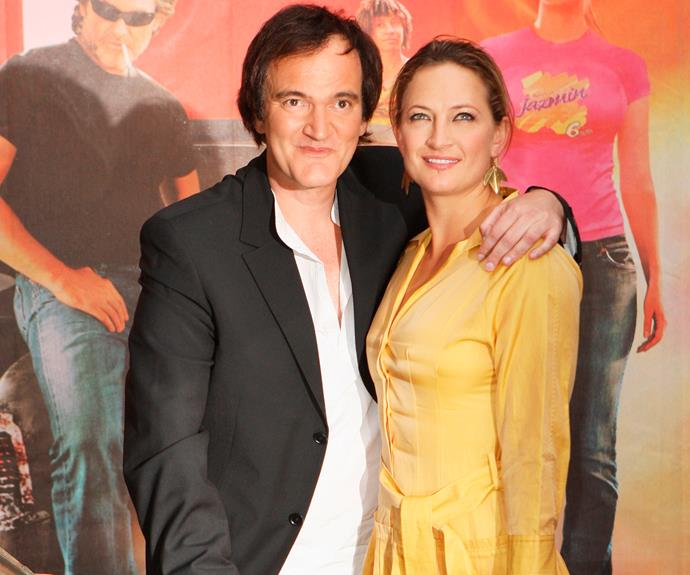 Zoe poses with director pal Quentin Tarantino, who she befriended after doubling for Uma Thurman in *Kill Bill*.