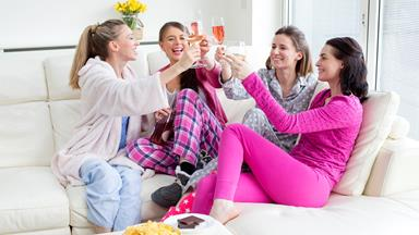 Adults can have slumber parties too