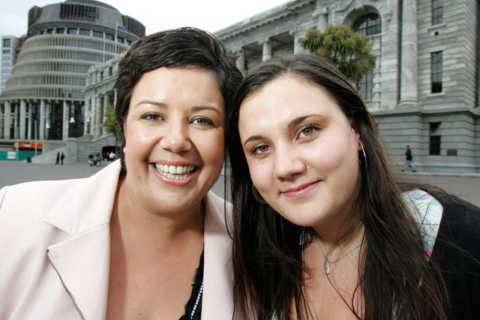 Paula and her daughter Ana at Parliament Buildings.