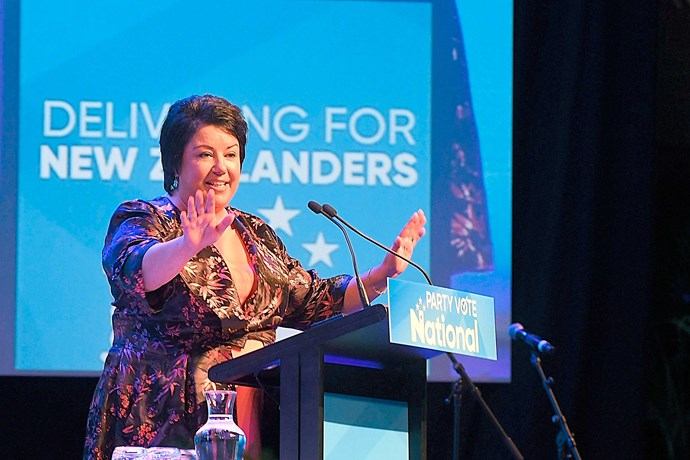 The MP speaking at the National Party's Annual Conference in 2017.